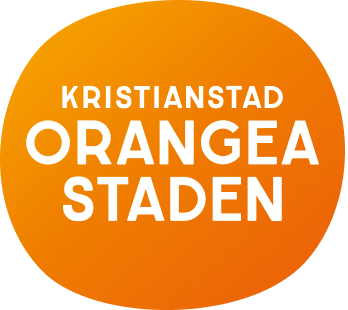 Orangea staden logo with orange background
